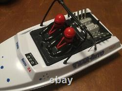 NQD 757T-6024 White TEAR INTO RC REMOTE CONTROL JET BOAT, Brushless Motor& More