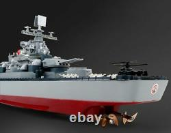New 1250 Scale Remote Control Battleship Warship Boats Large Rc Ship Electric