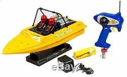 New Nqd 757-6024 Yellow Tear Into Rc Remote Control Jet Boat With 390 Motor Rtr