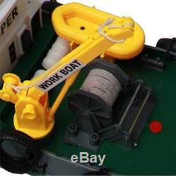 New free shipping Hugine 5 Channel Fire Boat Remote Control Seaport Work Ship