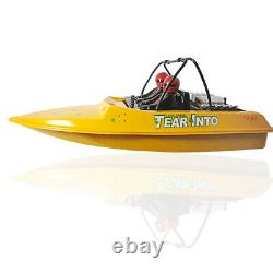 Nqd 757-6024 Yellow Tear Into Rc Remote Control Jet Boat With 390 Motor Rtr