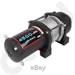 Offroad 4500LBS ATV UTE Winch 12V Electric Remote Control Boat 10M Steel Cable