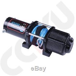 Offroad 4500LB ATV UTE Winch 12V Electric Remote Control Boat Synthetic Cable