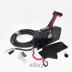 Outboard Remote Control Box for Boat Mercury Engine 8Pin Right Hand Box Set