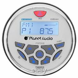Planet Audio PGR35B 3.5 Inch Marine MP3/Radio Bluetooth Boat Stereo Receiver