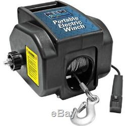 Portable Electric Winch 12 Volt Remote Control Boat Trailer Tow ATV Truck Towing