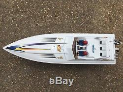 RARE! Pro Boat Shockwave 36 Nitro RC Boat Gas with Remote Control And Starter