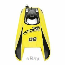 RC Boats 40mph High Speed Racing Radio RTR Remote Control Auto Model Kit Yellow