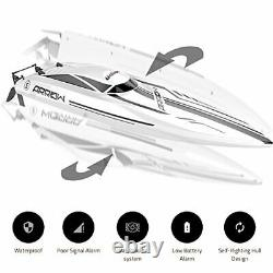 RC Brushless High Speed Boat Large Racing Remote Control Boat Off-white+black