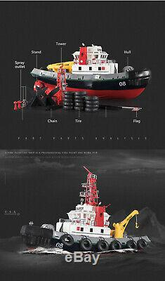 RC Remote Control 2.4G Seaport TugBoat Work Boat With Lights & Spurt Water