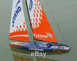 RC Sail Boat Racing Yacht Legend Sailboat 2.4G Radio Remote Control RTR