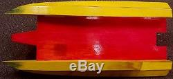 REALLY NICE RC REMOTE CONTROL COMPETITION RACING BOAT WithCLASSIC WOODEN HULL