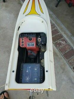 R/C Prather Products Gas Powered Boat 1/4 Scale Remote Control Fun Cruiser