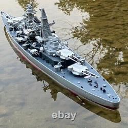 Rc Battleship Boat Large Scale High Speed Remote Control Boat, 2.4Ghz 1360 Kids