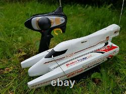 Rechargeable Catamaran Radio Remote Control Rc Boat Racing High Speed 12KM/HR