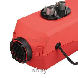 Red 12V 8KW Diesel Air Heater Remote Control Low Noise For RV Truck Car Boat USA