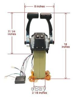Remote Control Throttle Shift 4500 Dual Twin Component for 40HP & Up Outboards
