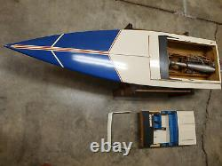 Scarab KV Large Scale Remote Control Boat with Radio 59 Length