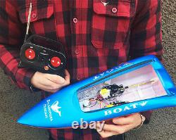 Shipped 24H Double Horse Remote Radio Control RC 7002 FAST Racing Speed Boat Toy