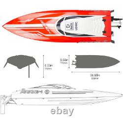 UDIRC 2.4GHz RC Racing Boat 50km/h Brushless Electronic Remote Control Boat Gift