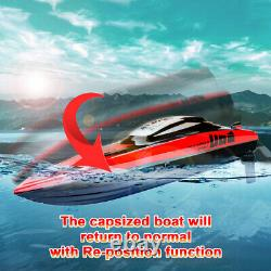 Udirc RC Electric Racing Boat 2.4G Remote Control High Speed Boat for Kid Adult