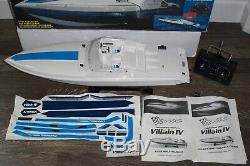 VINTAGE TRAXXAS Remote Control R/C Boat Villain IV model 1508 Boxed Very CLEAN