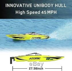 VOLANTEX RC Racing Boat 40MPH Brushless Remote Control Speed Boat For Adult Kid