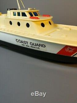 Vintage 1980 Azrak Hamway 16 Coast Guard Cutter Boat Toy RC Remote Controlled