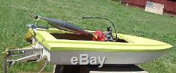 Vintage R/C Speed Boat Gas Power Fiberglass Water Craft 42 Huge Remote Control