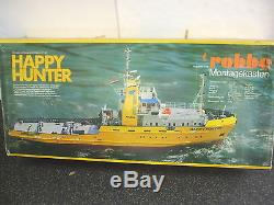 Vintage Robbe HAPPY HUNTER R/C Ocean Going Salvage Tug Remote Control Boat Kit