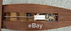 Vintage Wooden 46 Remote Controlled Sail Boat Futaba
