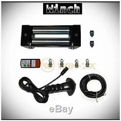 WIN-2X 12000lb 12V Electric Recovery Waterproof Winch Kit withSteel Cable & Remote