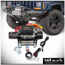 WIN-2X 9500lb 12V Electric Recovery Waterproof Winch Kit with Steel Cable & Remote