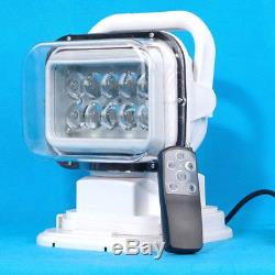 Waterproof Cree LED Remote Control Spotlight Offroad Truck Car Boat Search Light