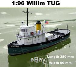 Willims tug 1 96 Scale 308mm RC Tug Working Boat Remote control simulation Gift